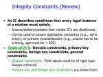 integrity constraints review