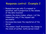 response control example 2