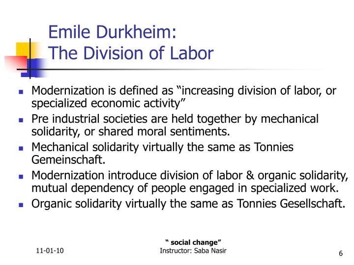 Emile Durkheim: