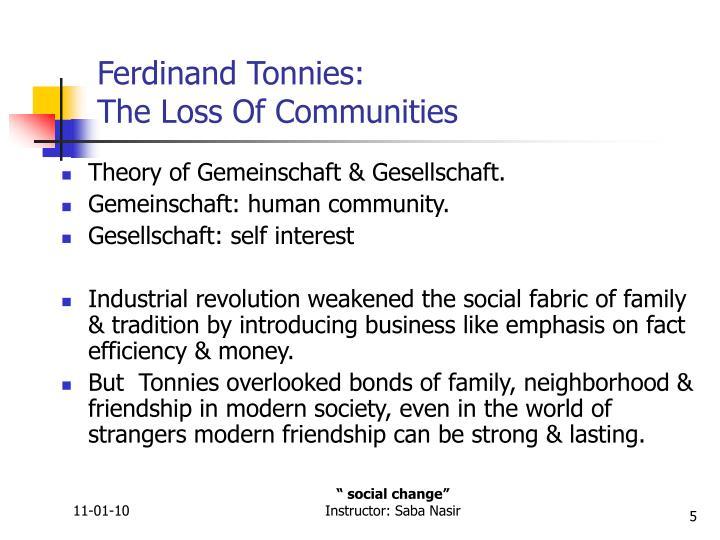 Ferdinand Tonnies: