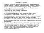 metodi linguistici