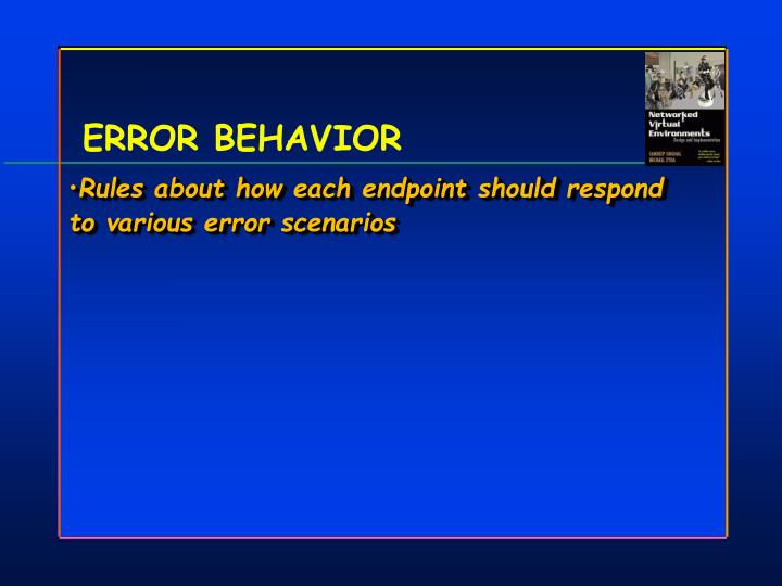 ERROR BEHAVIOR