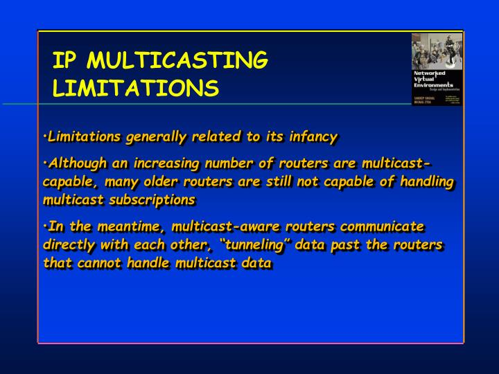 IP MULTICASTING LIMITATIONS
