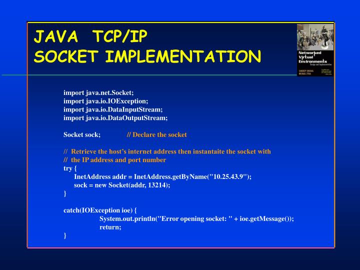 JAVA  TCP/IP