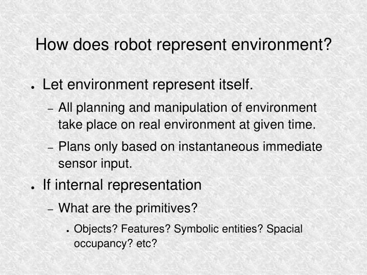 How does robot represent environment?