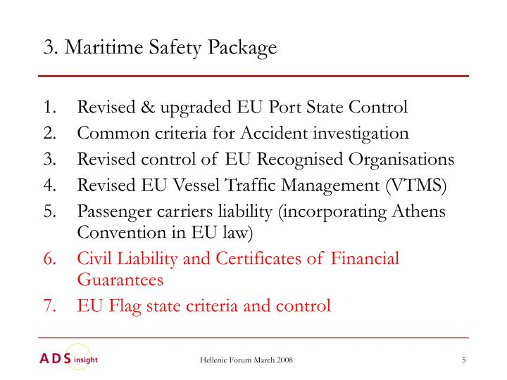 3. Maritime Safety Package
