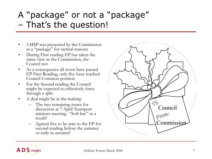 "A ""package"" or not a ""package"""