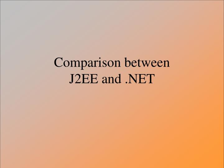 Comparison between