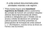 a uni o est vel documentada pelas atividades notariais e de registro1
