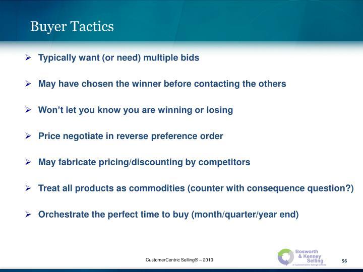 Buyer Tactics