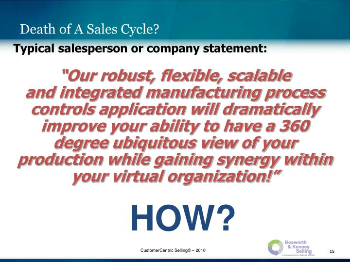 Death of A Sales Cycle?