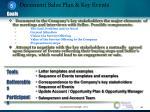 document sales plan key events