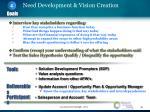need development vision creation