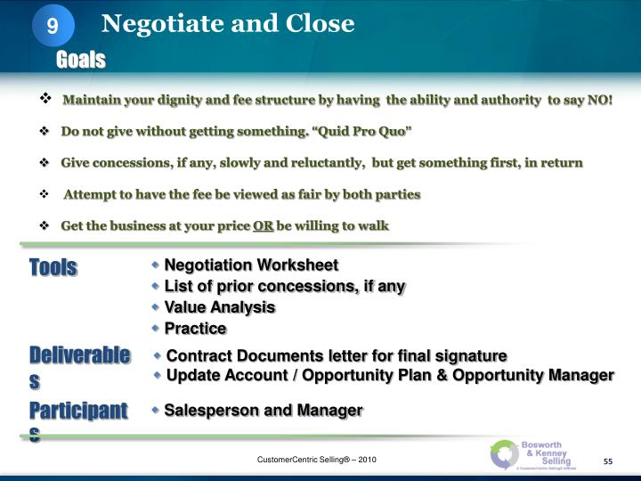 Maintain your dignity and fee structure by having  the ability and authority  to say NO!