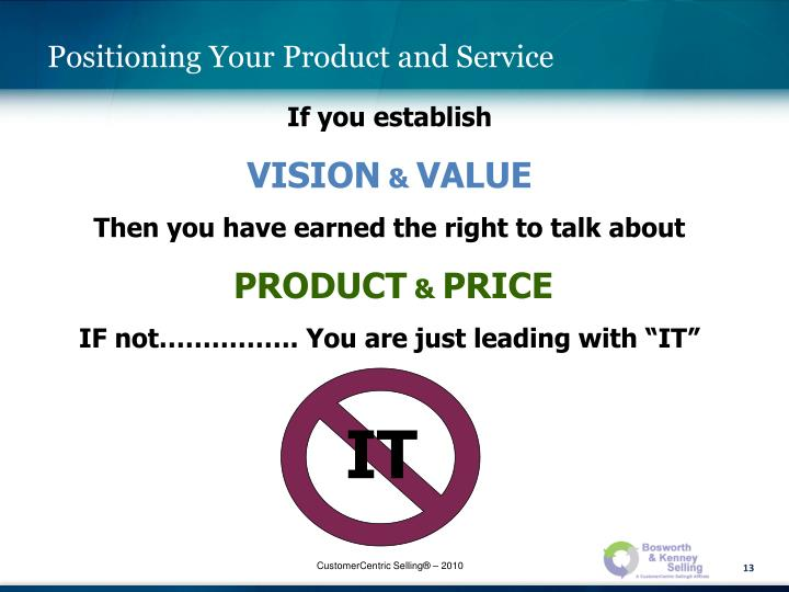 Positioning Your Product and Service