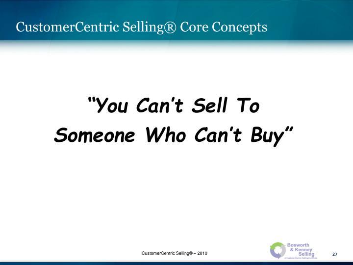 CustomerCentric Selling®