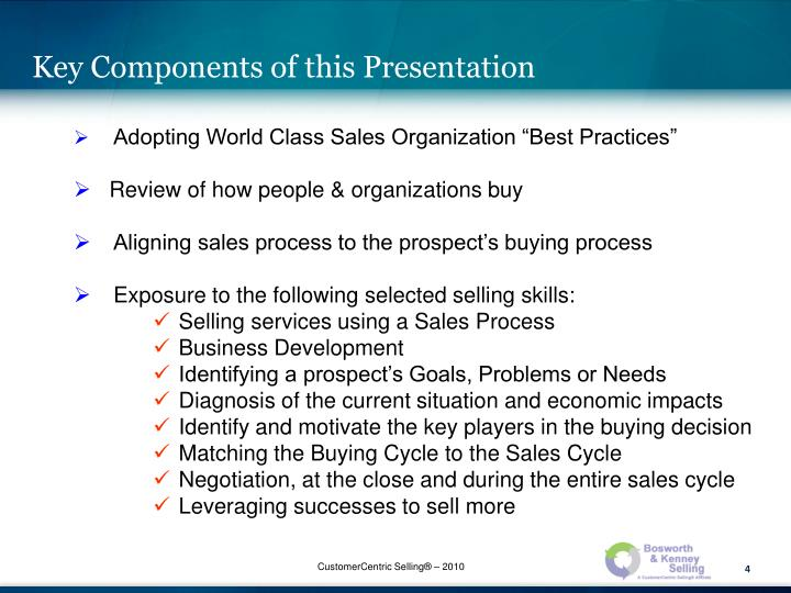 Key Components of this Presentation