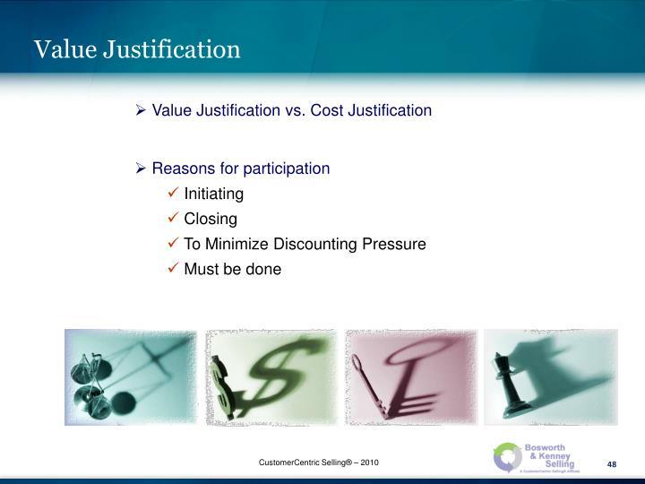 Value Justification