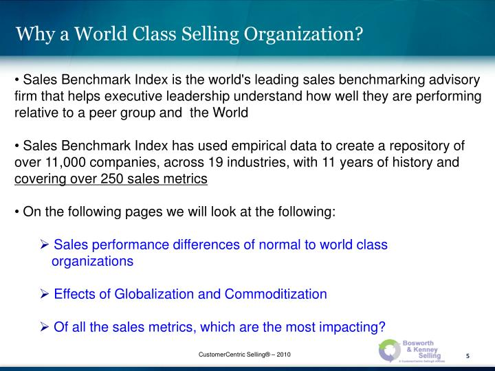 Why a World Class Selling Organization?