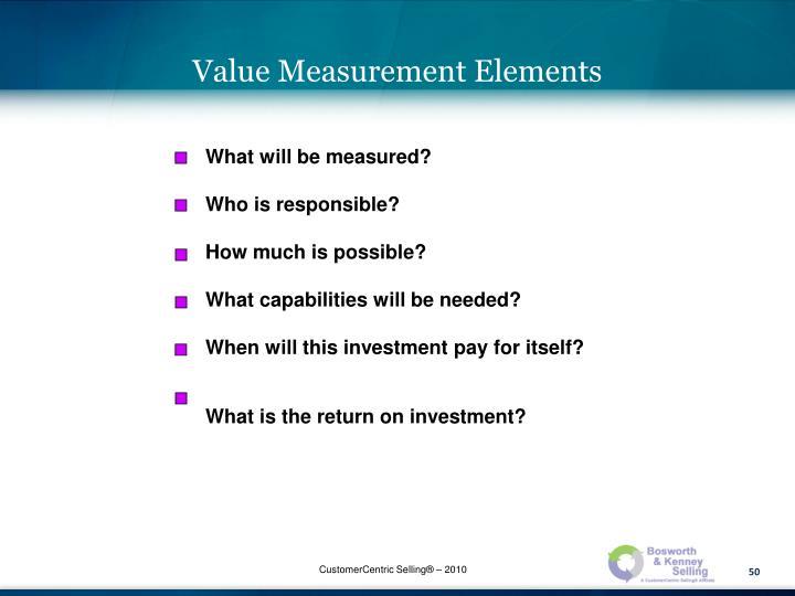 Value Measurement Elements