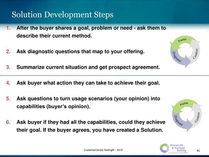 Solution Development Steps