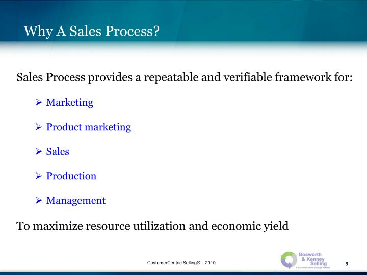 Why A Sales Process?