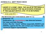adabas v7 4 dirty read check