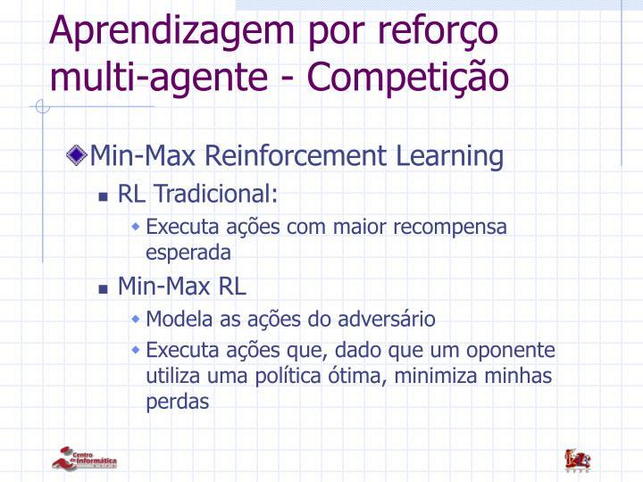 Aprendizagem por reforço multi-agente - Competição