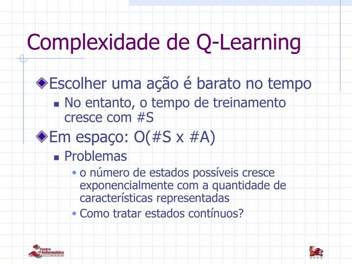 Complexidade de Q-Learning