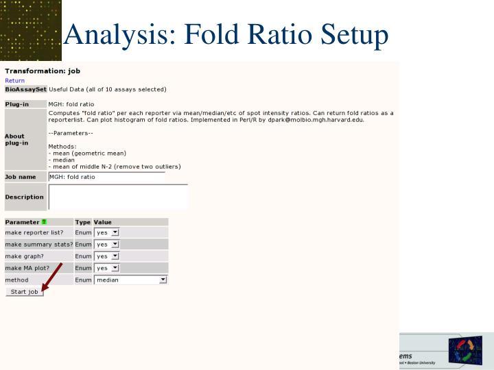 Analysis: Fold Ratio Setup