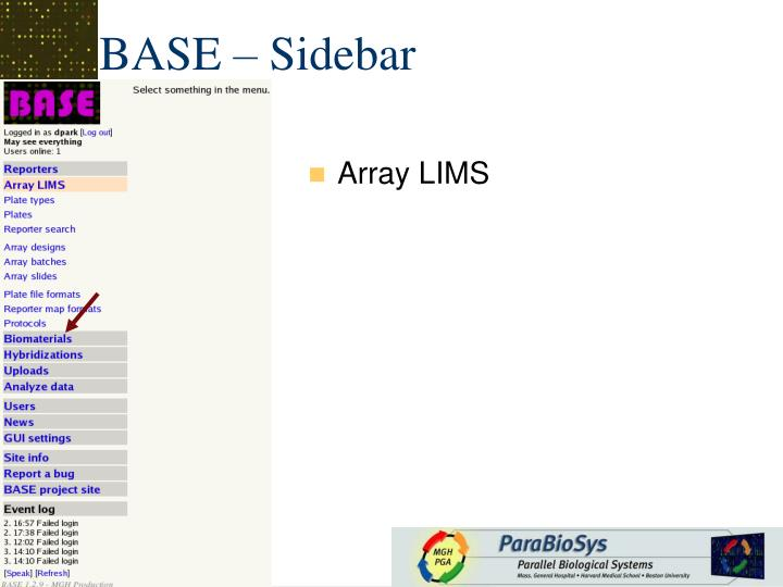 Array LIMS
