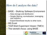 how do i analyze the data
