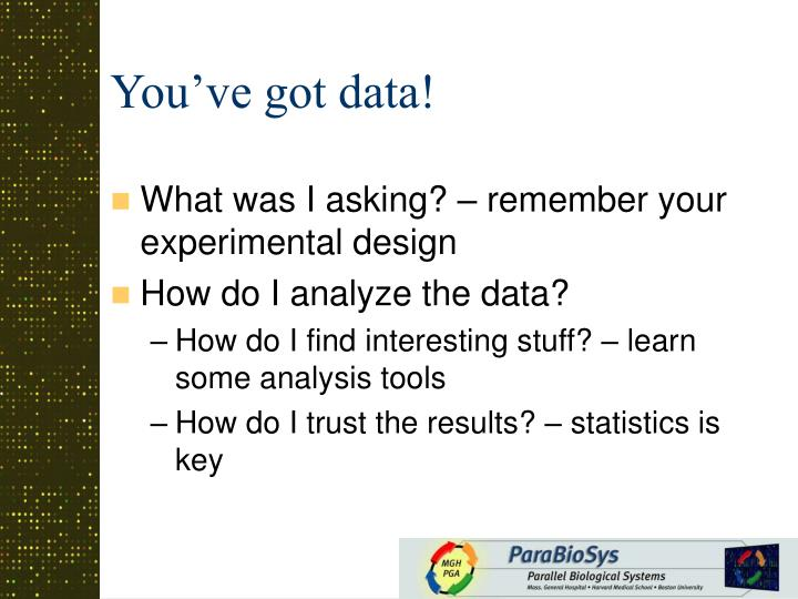 You've got data!