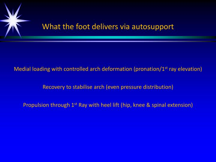 What the foot delivers via autosupport
