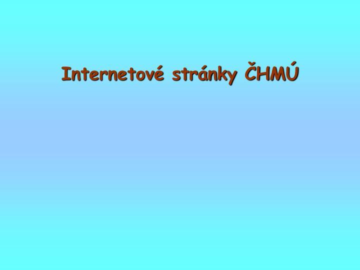 Internetové stránky ČHMÚ