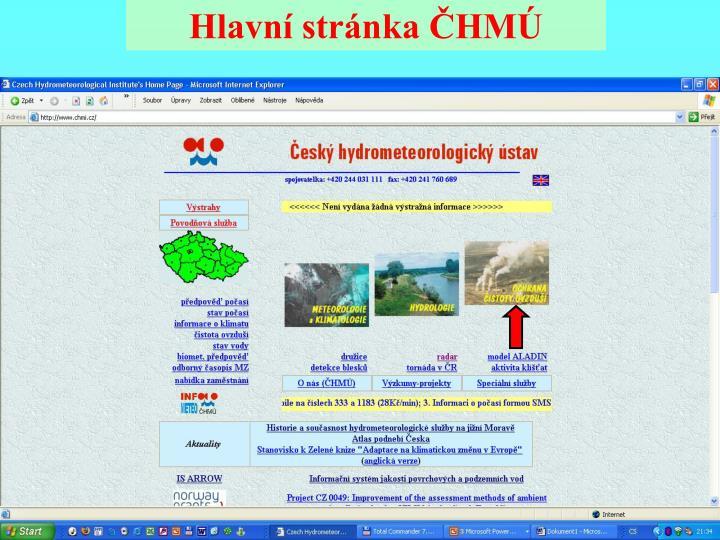 Hlavní stránka ČHMÚ