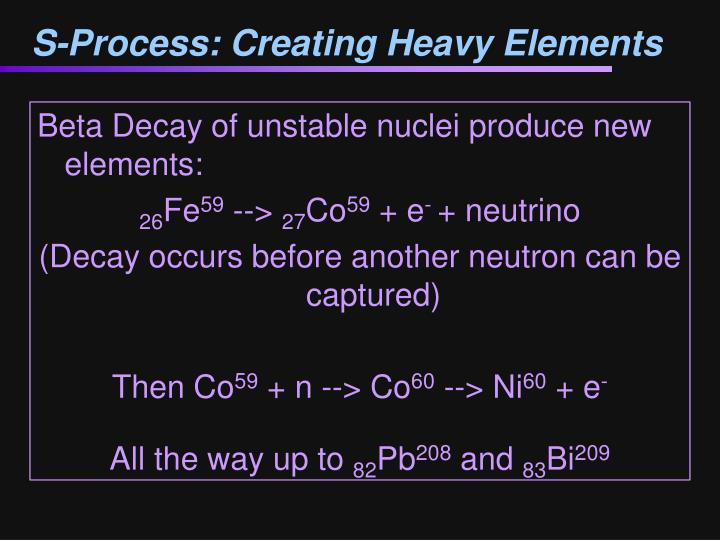 S-Process: Creating Heavy Elements