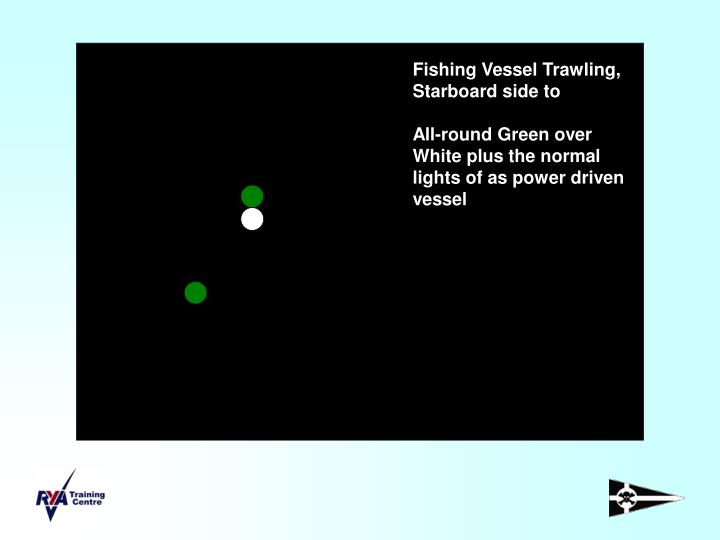 Fishing Vessel Trawling, Starboard side to