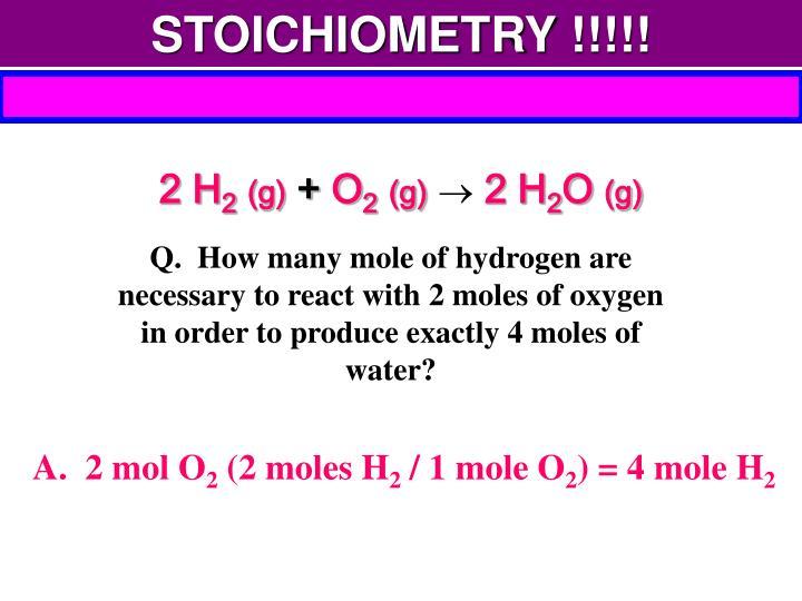 STOICHIOMETRY !!!!!