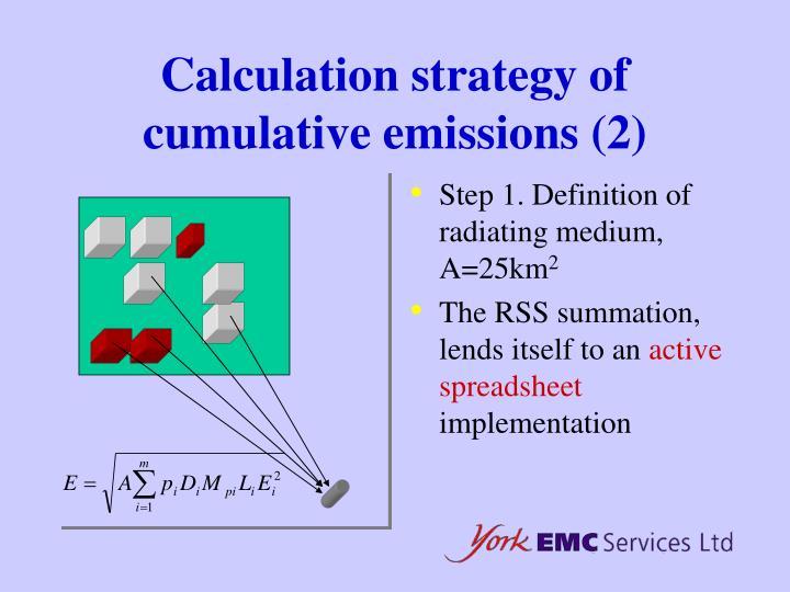 Calculation strategy of cumulative emissions (2)