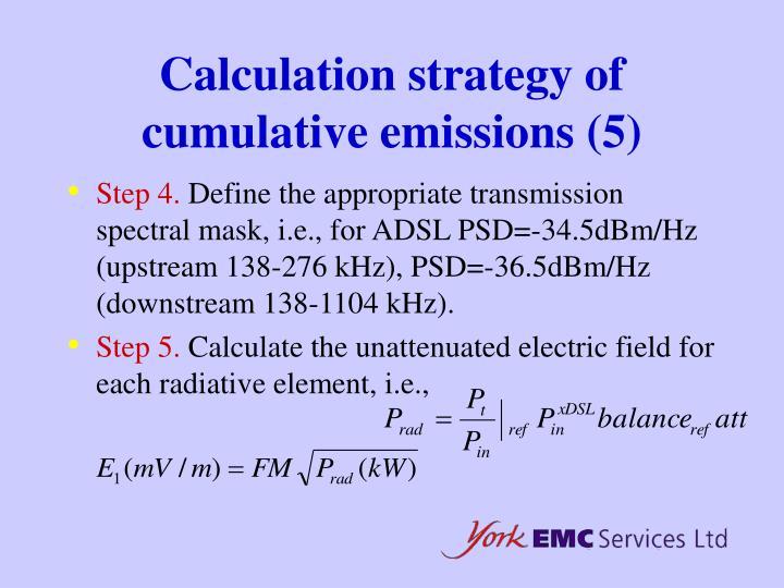 Calculation strategy of cumulative emissions (5)