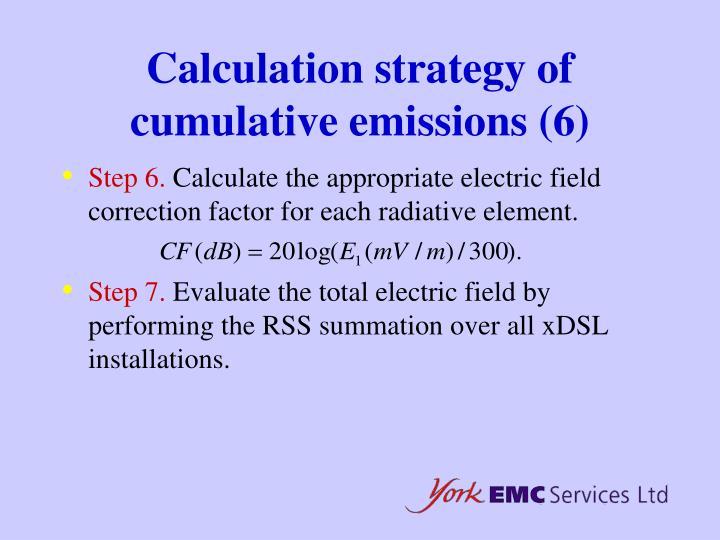 Calculation strategy of cumulative emissions (6)