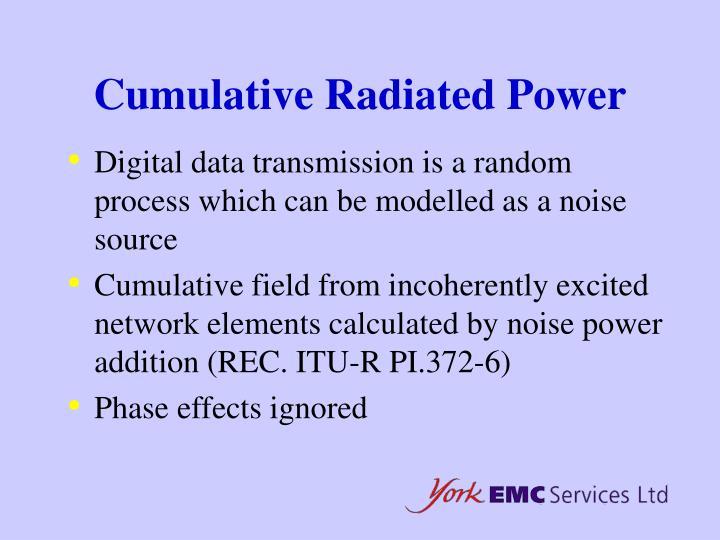 Cumulative Radiated Power