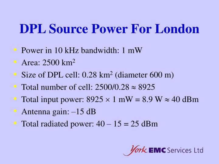 DPL Source Power For London