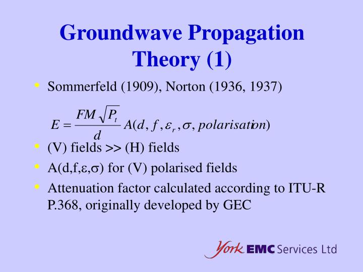 Groundwave Propagation Theory (1)