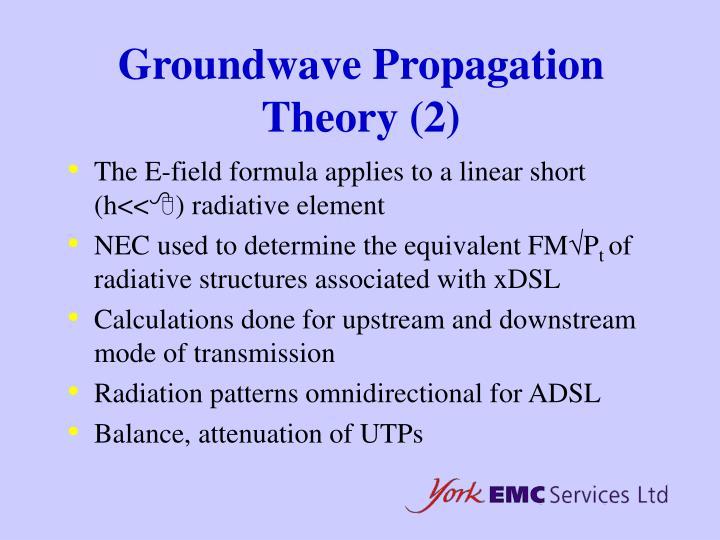 Groundwave Propagation Theory (2)