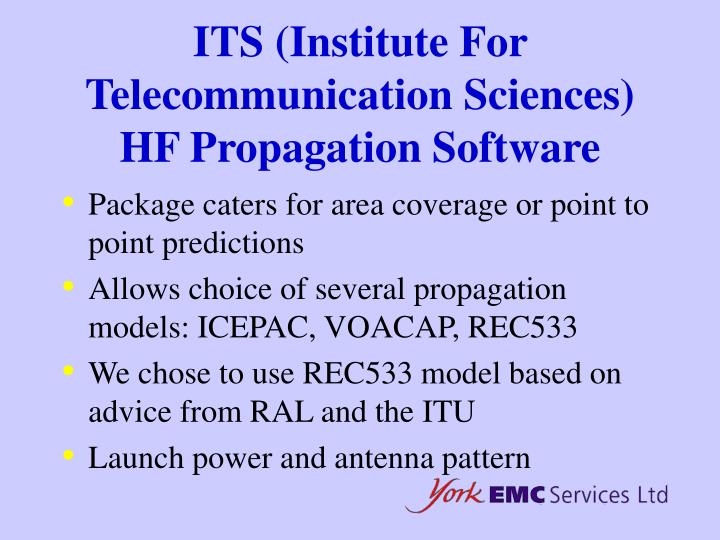 ITS (Institute For Telecommunication Sciences) HF Propagation Software