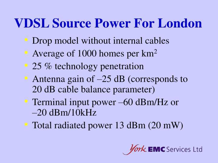 VDSL Source Power For London