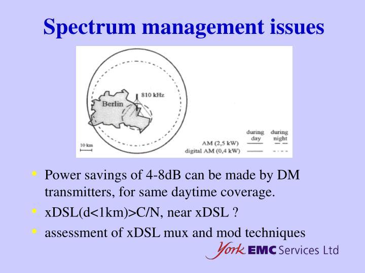 Spectrum management issues