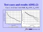 test cases and results adsl 2